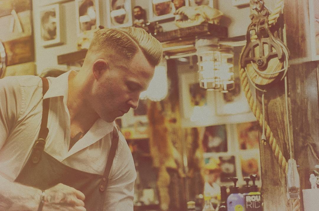 Mr. Barber Blonde YEG himself