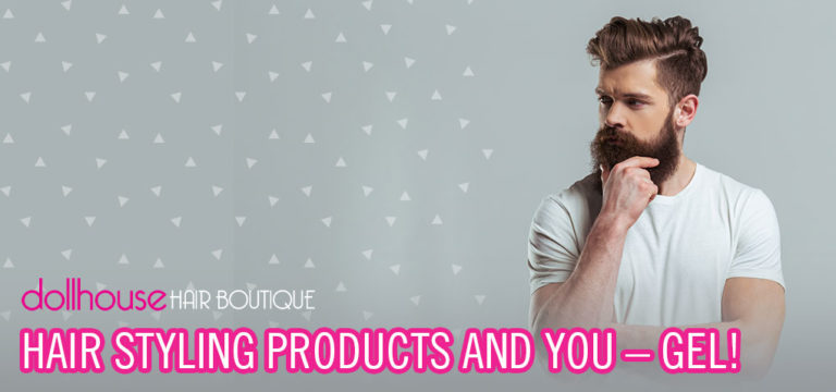 Hair styling with gel