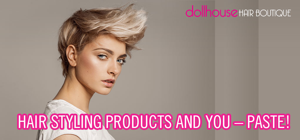 Hair styling with paste