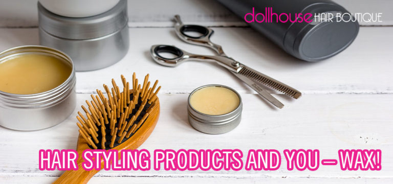 Hair styling with wax graphic