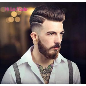High Lo Fade + Medium Pompadour